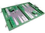 picture of Hector Saxe Croco Leather Backgammon Set - Green (2 of 12)