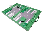 Hector Saxe Croco Leather Backgammon Set - Green
