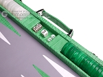 picture of Hector Saxe Croco Leather Backgammon Set - Green (7 of 12)