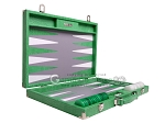 picture of Hector Saxe Croco Leather Backgammon Set - Green (10 of 12)