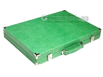 picture of Hector Saxe Croco Leather Backgammon Set - Green (11 of 12)