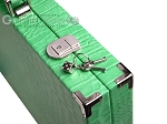 picture of Hector Saxe Croco Leather Backgammon Set - Green (12 of 12)
