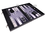 picture of Hector Saxe Faux Leather Backgammon Set - Grey Field (2 of 12)