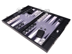 picture of Hector Saxe Faux Leather Backgammon Set - Grey Field (3 of 12)