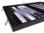 picture of Hector Saxe Faux Leather Backgammon Set - Grey Field (5 of 12)