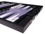picture of Hector Saxe Faux Leather Backgammon Set - Grey Field (6 of 12)