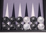 picture of Hector Saxe Faux Leather Backgammon Set - Grey Field (9 of 12)