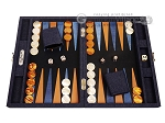Hector Saxe Denim Travel Backgammon Set - Dark Blue