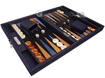 picture of Hector Saxe Denim Travel Backgammon Set - Dark Blue (2 of 12)