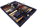 picture of Hector Saxe Denim Travel Backgammon Set - Dark Blue (3 of 12)