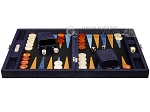 picture of Hector Saxe Denim Travel Backgammon Set - Dark Blue (4 of 12)