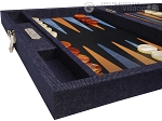 picture of Hector Saxe Denim Travel Backgammon Set - Dark Blue (5 of 12)