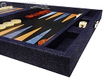 picture of Hector Saxe Denim Travel Backgammon Set - Dark Blue (6 of 12)