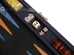 picture of Hector Saxe Denim Travel Backgammon Set - Dark Blue (7 of 12)