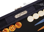 picture of Hector Saxe Denim Travel Backgammon Set - Dark Blue (9 of 12)