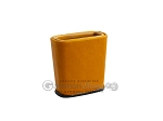 Leather Backgammon Dice Cup - Oval - Light Brown - Item: 2762