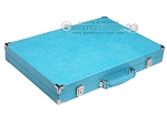 picture of Hector Saxe Croco Leather Backgammon Set - Turquoise (11 of 12)