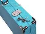 picture of Hector Saxe Croco Leather Backgammon Set - Turquoise (12 of 12)