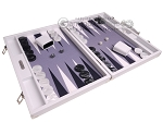 picture of Hector Saxe Carbon Linen/Felt Backgammon Set - White (2 of 12)