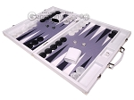 picture of Hector Saxe Carbon Linen/Felt Backgammon Set - White (3 of 12)