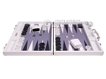 picture of Hector Saxe Carbon Linen/Felt Backgammon Set - White (4 of 12)