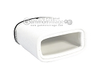 picture of Leather Backgammon Dice Cup - Oval - White (3 of 3)