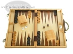 15-inch Wood Backgammon Set - Walnut