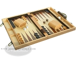 picture of 15-inch Wood Backgammon Set - Walnut (2 of 11)