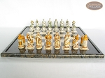 picture of The Battle of Kazan Chessmen with Italian Lacquered Board [Black] (4 of 8)
