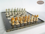 picture of The Battle of Kazan Chessmen with Italian Lacquered Board [Black] (5 of 8)
