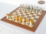 picture of The Battle of Kazan Chessmen with Spanish Traditional Chess Board [Extra Large] (2 of 7)