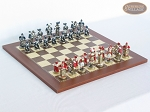 Magnificent Chessmen with Spanish Traditional Chess Board [Small] - Item: 882