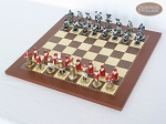 picture of Magnificent Chessmen with Spanish Traditional Chess Board [Small] (2 of 6)