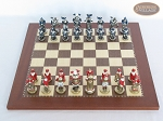picture of Magnificent Chessmen with Spanish Traditional Chess Board [Small] (3 of 6)