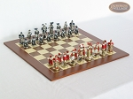 Magnificent Chessmen with Spanish Wood Chess Board - Item: 877