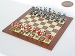 picture of Magnificent Chessmen with Spanish Wood Chess Board (2 of 7)