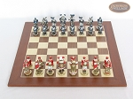 picture of Magnificent Chessmen with Spanish Wood Chess Board (3 of 7)