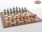 picture of Magnificent Chessmen with Spanish Wood Chess Board (4 of 7)