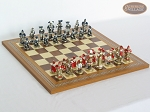 Magnificent Chessmen with Spanish Mosaic Chess Board - Item: 879