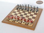 picture of Magnificent Chessmen with Spanish Mosaic Chess Board (2 of 8)