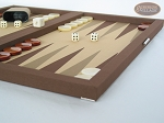 picture of Dal Negro Backgammon Set - Brown Cialux (6 of 9)