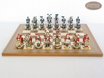 picture of Magnificent Chessmen with Spanish Mosaic Chess Board (4 of 8)