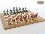 picture of Magnificent Chessmen with Spanish Mosaic Chess Board (5 of 8)