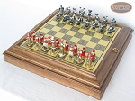 picture of Magnificent Chessmen with Italian Brass Board with Storage (2 of 9)