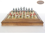 picture of Magnificent Chessmen with Italian Brass Board with Storage (4 of 9)