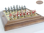 picture of Magnificent Chessmen with Italian Brass Board with Storage (5 of 9)