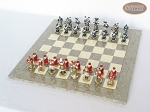 picture of Magnificent Chessmen with Spanish Lacquered Board [Grey] (2 of 8)