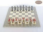 picture of Magnificent Chessmen with Spanish Lacquered Board [Grey] (3 of 8)