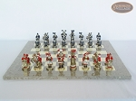 picture of Magnificent Chessmen with Spanish Lacquered Board [Grey] (4 of 8)