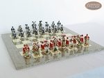 picture of Magnificent Chessmen with Spanish Lacquered Board [Grey] (5 of 8)